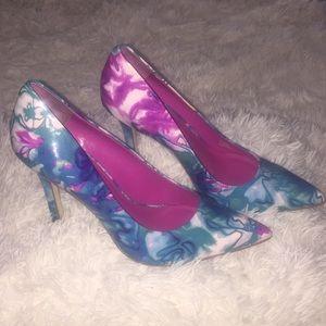 Watercolor BCBG Heels